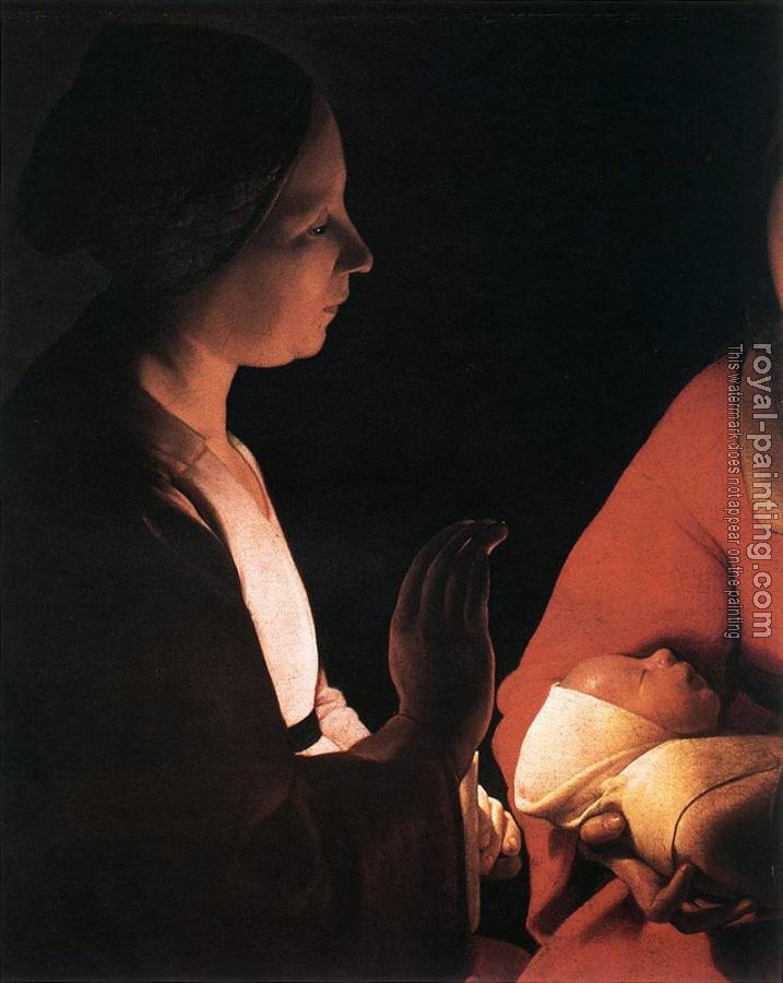 Georges De La Tour : The New born detail
